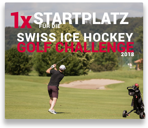 1 Startplatz für die Swiss Ice Hockey Golf Challenge 2018